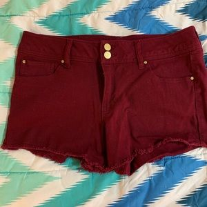 Charlotte Russe Maroon shorts